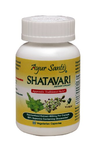 Shatavari-Extract 600mg Per Cap(50% Saponins containing Shatavarins-300 mg*) 60 Veg ()