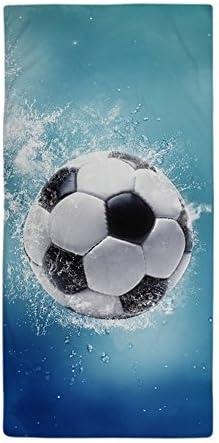Diseño moderno toalla de playa agua de fútbol Splash – 27 x 54 ...