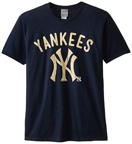 MLB New York Yankees Men's 58W Tee, Navy, Medium