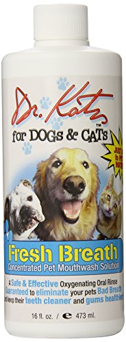 Dr. Harold Katz for Dogs and Cats Fresh Breath, Oral Rinse, 16 oz ( 473 ml),  (Pack of 5)