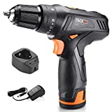Drill, TACKLIFE Cordless Drill 2000mAh Li-on 2-Speed 3/8-Inch Metal Chuck Max Torque 220 In-lbs 19+1 Torque Setting 12V for DIY,PCD02C