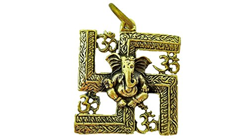 Lord ganesh ganesha god of beginning success blessed pendants with necklace & holy cloth