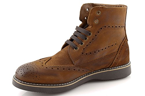 damalu Womens Shoes Leather Boot Vintage Winter Boots Ankle High Italian Leather v7oh3Onb0V
