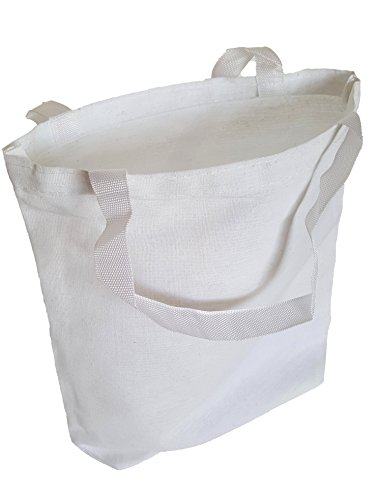 White Cotton Tote Bags, Party Goody Bags, To Go Bags. (12) by Dondor (Image #4)