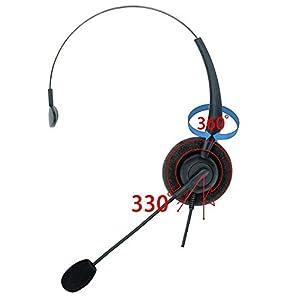 DailyHeadset RJ9 Corded Phone Headset Corded Home Telephones Office Analog Phones Aastra Avaya Digium Mitel NEC Polycom…