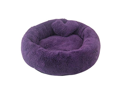 Homemade Hedgehog Costume (Freerun Warm Soft Cozy Durable Pets Dogs Cats Round Shape Machine Washable Pets Beds (Purple, S))