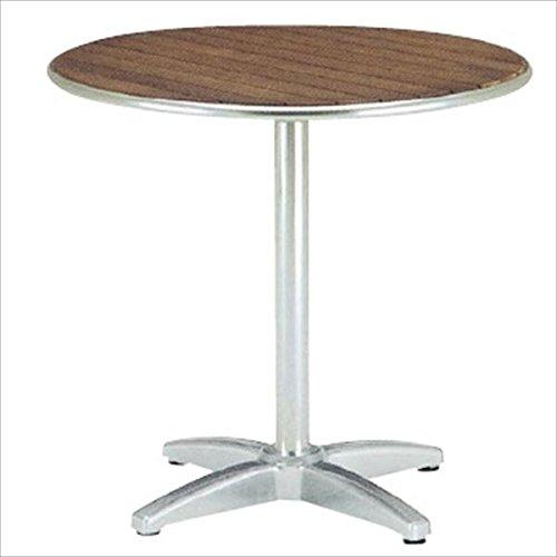 ユニソン テーブル&チェア ラウンドテーブル AU800 『ガーデンテーブル』 チーク B00VRN03VA