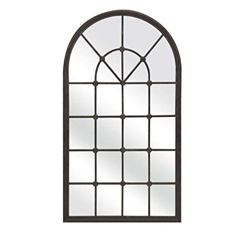 IMAX 18310 Barnett Metal Mirror - Handcrafted, Heavy Duty, Aesthetic Wall Mirror. Home Decor Mirrors (Window Large Mirror)