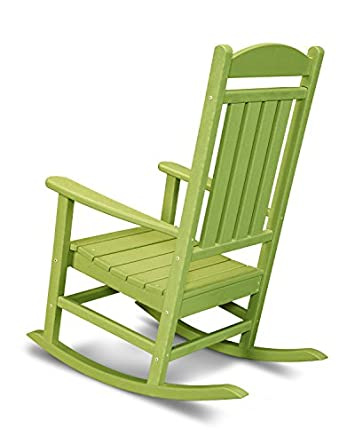 POLYWOOD R100LI Presidential Outdoor Rocking Chair, Lime