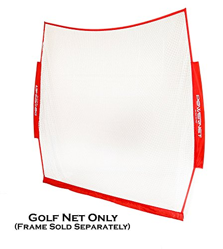 PowerNet Golf Practice 7ft x 7ft NET ONLY 49 sqft of Hitting Area Replacement Net Perfect for Any Backyard, Driveway or Garage Great for Working on Any Type of Swing