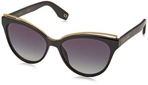Marc Jacobs Women's Cat Eye Frame Sunglasses, Black/Dark Grey, One ()