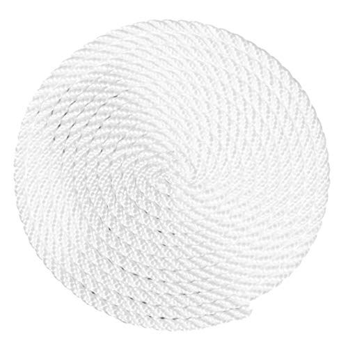Stretch Strands - 3 Strand Twisted Polyester Rope - Comes in White - Choose from Multiple Lengths and Widths - High Strength, Low Stretch - Multiple Uses, Utility, Crafting, and More