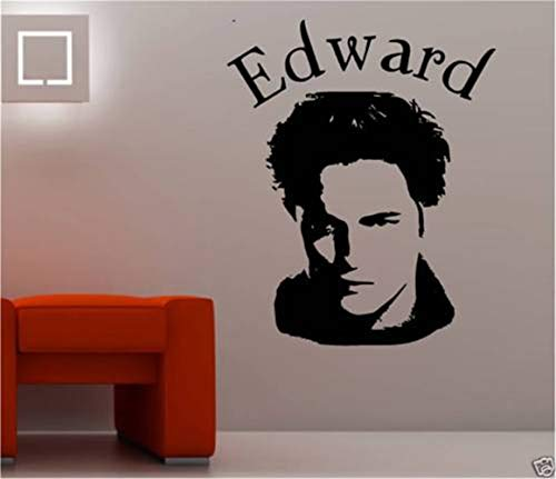 Jisao Removable Vinyl Mural Decal Quotes Art Edward Cullen Twilight Movie Pop Star Room Poster Wall Sticker Cut Decal Stencil Home Décor