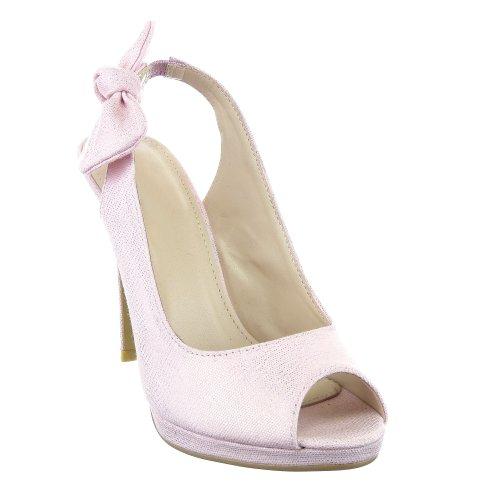 Sopily - Scarpe da Moda scarpe decollete Decollete Stiletto alla caviglia donna nodo 10.5 CM - Rosa