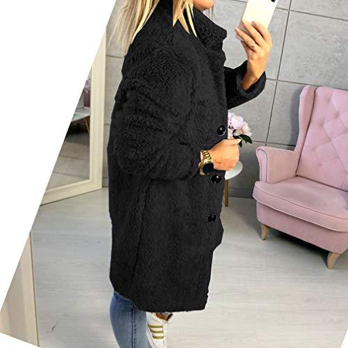 Boutons Chaud Fit Manches Femmes Midi Manteaux Casual Vêtements noir Slim Jaune Longues En Veste Noir Avec bleu gris Couleur Cardigan Molleton Manteau Chic Solide PPatxw8r