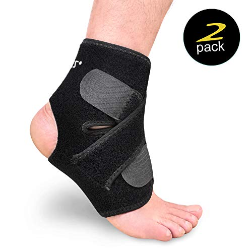 Citoor Ankle Brace Adjustable Ankle Support for Running Basketball Arthritis Sprain Injury Recovery 1 Pair