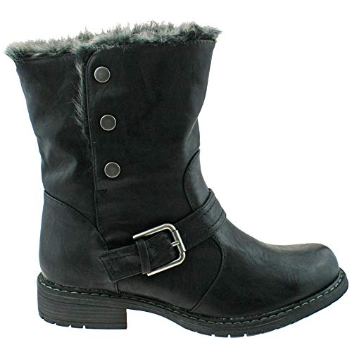 Black Eyes Down Cats Fold Boot Black L830A Pu T8qnwCnF