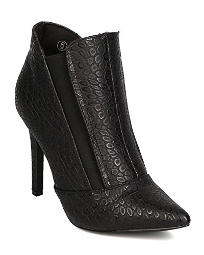 C LABEL Women Leatherette Snakeskin Pointy Toe Chelsea, used for sale  Delivered anywhere in USA