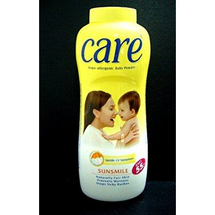 Care Hypo-allergenic Baby Powder Sunsmile Uv Sunscreen Prevent Wetness 500 G. Product of Thailand by CARE