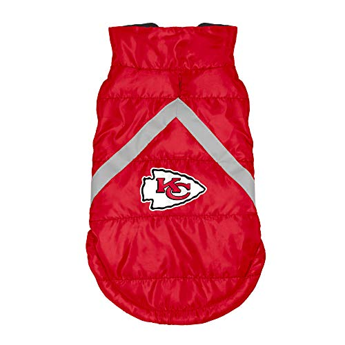 - NFL Kansas City Chiefs Pet Puffer Vest, Medium