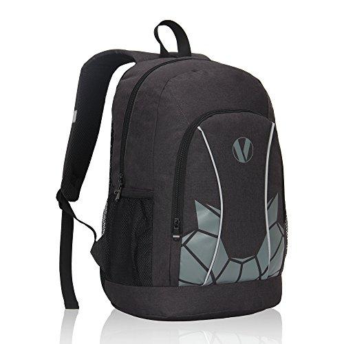 Veegul Luminous School Backpack Teens Glow Bookbag Boys Girls Daypack Black -