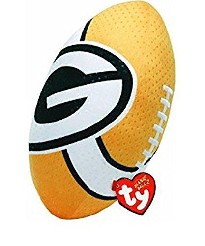 Ty Beanie Ballz NFL RZ Green Bay Packers Football - Packers Heart Bay Green