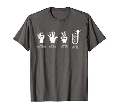 Nothing Beats Tuba Funny Rock Paper Scissors T-Shirt ()
