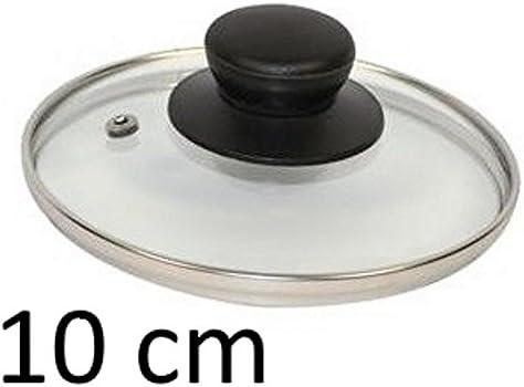10 cm Gnali COV10S Pomo para tapa de cristal transparente