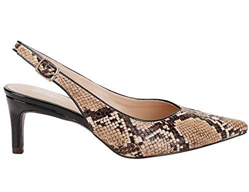 Donna Maxmuxun Brown Col Tacco Snake Scarpe Hhmm049 BIwIqnAR