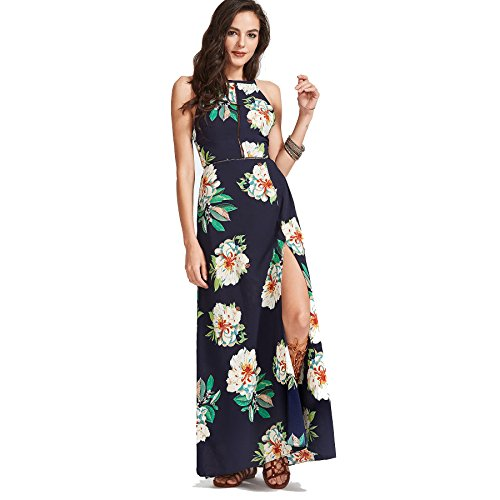 Ladies Fancy Dress (Maxi Dress For Women, Sexy Off The Shoulder Backless Floral Pattern Girls Skirt Autumn Formal Cocktail Evening Prom Bridesmaid Party Ladies Dresses Elegant Plus Size Womens Clothes)