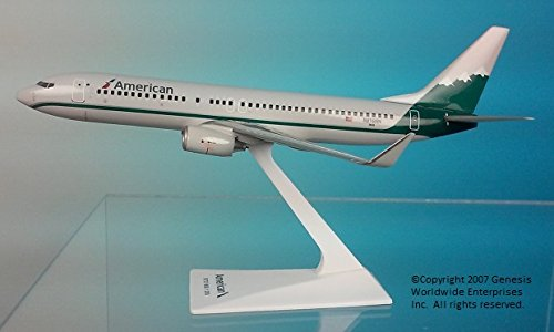 Flight Miniatures American/Reno B737-800 Airplane Miniature Model Plastic Snap Fit 1:200 Part# ABO-73780H-034 ()