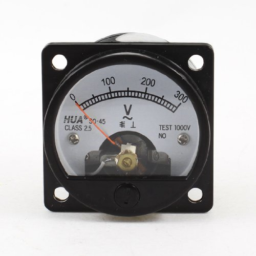 Ac Analog (uxcell AC 0-300V Fine Tuning Dial Panel Analog Voltage Meter Voltmeter)