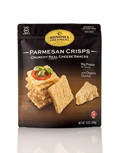 (Sonoma Creamery Cheese Crisps - Parmesan Savory Cheese Cracker Snack High Protein Low Carb Gluten Free Wheat Free (10 Ounce))