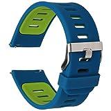 gear watch neo - 22mm Width Silicone Watchbands Strap for Samsung Gear 2 R380, Gear 2 Neo R381, Gear 2 Live R382, LG G Watch W100 W110, Urbane W150 and ASUS ZenWatch