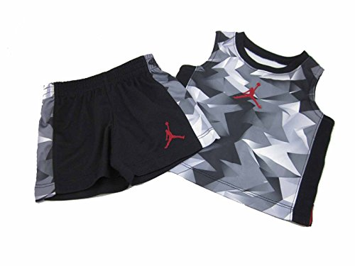 Jordan Jersey Shorts (Infant Toddler Michael Air Jordan Jersey Set (6/9 Months, Black/Chevron))