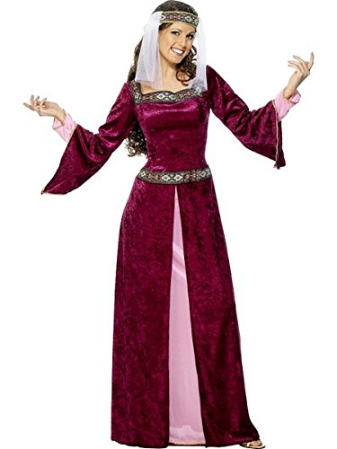 [Smiffy's Women's Maid Marion Costume, Dress and Headpiece, Tales of Old England, Serious Fun, Plus Size 18-20,] (Toddler Renaissance Costumes)