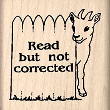 amazon com read but not corrected rubber stamp 1 1 2 inches x 1 1