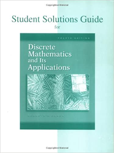 Student solutions guide for discrete mathematics and its student solutions guide for discrete mathematics and its applications kenneth h rosen 9780072899061 amazon books fandeluxe Images