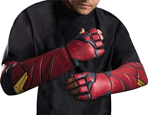 Rubie's Men's Justice League Flash Gloves, As Shown, One Size ()