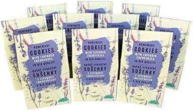 Levandule Chodounska Handgemachte COOKIES - BIO, mit Lavendel, Familienverpackung von 10 Kästchen x 30 g