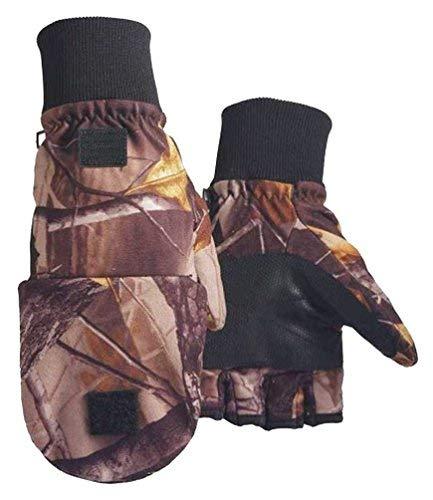 (Northstar Unisex Waterproof Thinsulate Camo Flip Top Convertible Gloves. 500CA)