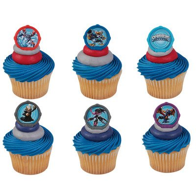 24 Skylanders 3 Portal Power Cupcake Rings Decorations Party for $<!--$9.28-->
