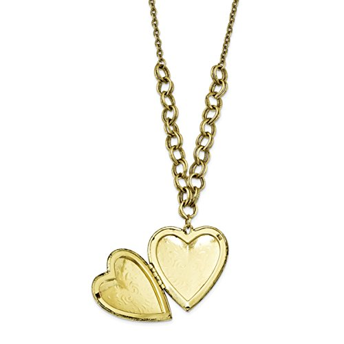 Jewelry Pot Brass-tone Heart Locket on 28