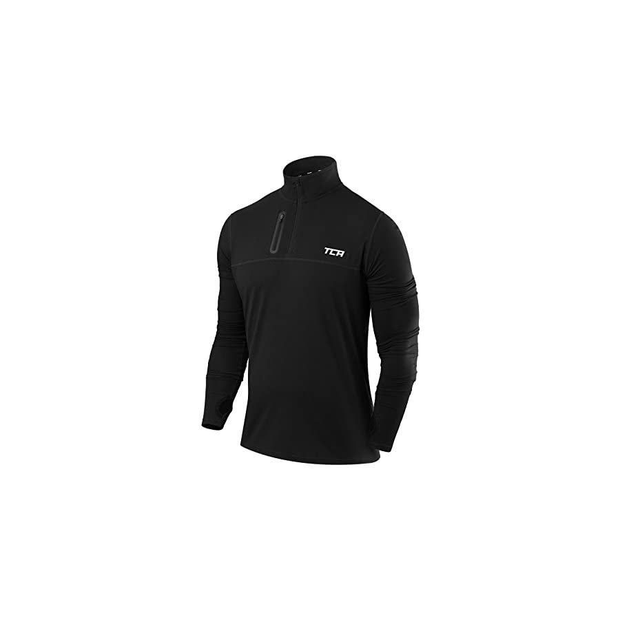 TCA Men's Fusion Pro Quickdry Long Sleeve Half Zip Running Top