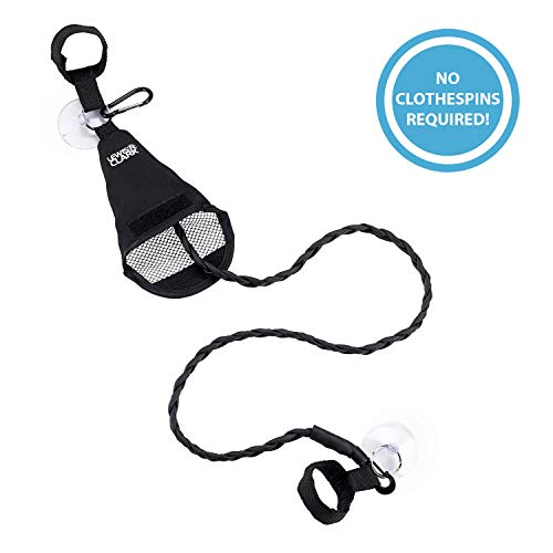 Lewis N. Clark Adjustable Latex Clothesline For Hotel Travel, Camping + Laundry Room, No Safety Pins Needed, Small Enough To Store In Laundry Basket, Backpack, Or Camping Gear ()