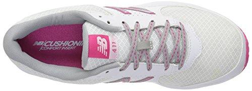 New Mujer rosado Zapatillas Para 411 Balance Blanco qRRFwxB