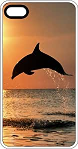 Jumping Dolphin In the Sunny Sparkling Waves White Rubber Case for Apple iPhone 4 or iPhone 4s by lolosakes
