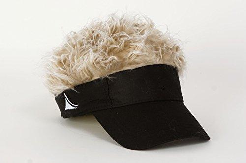 Flair Hair Black Visor with Blonde ()