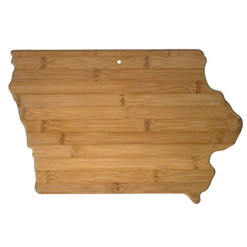 "Totally Bamboo State Cutting & Serving Board – ""IOWA"", 100% Organic Bamboo Cutting Board for Cooking, Entertaining, Décor and Gifts. Designed in the USA!"