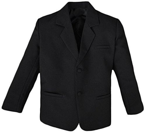 Black N Bianco Boys' Formal Black Suit with Shirt and Vest